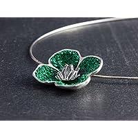 Damen-Anhänger Kleeblatt Frosch Glück 925 Sterling-Silber Halskette Designer-Schmuck