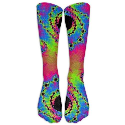 Desing shop Psychedelic Fractal Neon Rave Unisex Outdoor Knee High Long Tube Socks Sport Over-The-Calf Long Team Socks