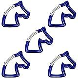 5 x Material-Karabiner Pferd Schlüsselanhänger Karabiner