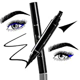 Original Eyeliner Stempel, Stanbow 2 in 1 Waterproof Winged Eyeliner Stempel und Eyeliner Stift, langanhaltend, Doppelkopf Eyeliner Pen für perfekter Lidstrich,Cat-Eyes,Smokey Make-up