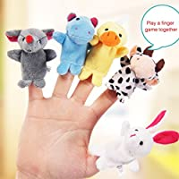 1PC Plush Animal Finger Puppets Baby Dual-layer Storytelling Props Kids Toys Gift