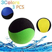 Water Polo Jumping Ball para Pool & Sea, Water Bouncing Ball para diversión Water Sports Juego para familia y amigos y adultos, Waterfat Jump de secado rápido - Anti-Cracking Soft y Strong Bounce (Yellow Blue Green)
