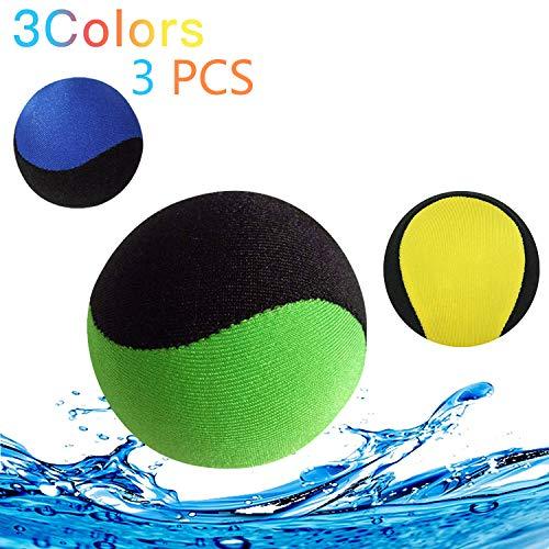 Wasser-ball Springball Flummi Springender Ball für Pool & Meer,Water Bouncing Ball Für Fun Water Sports Spiel für Jugendliche Familie Freundeund Erwachsene,Schnelltrocknender Jump Lycra-Bezug ball