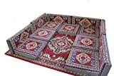 13 Teilige Set Sark Kösesi Orientalische Sitzecke, Sitzkissen Set mit oder ohne Teppich (13-tlg Set)