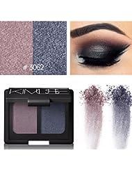 Culater® 2 couleurs Cosmétiques Maquillage Shimmer Matte fard à paupières Palette Sombras