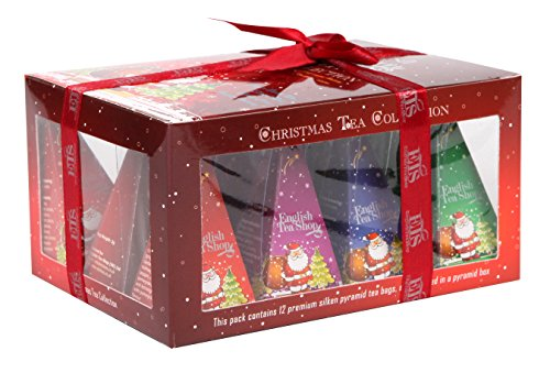"""English Tea Shop - Teegeschenk mit Schleife """"Red Santa Christmas"""", BIO, 12 Pyramiden-Beutel"""