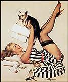 Großes 20 Pin Up Girl Poster, Vintage
