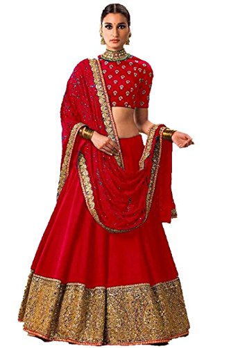 MAROON color embroidery Banglouri Silk Latest Fashionable Lahengha for women