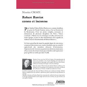 Robert Barriot Connu et Inconnu