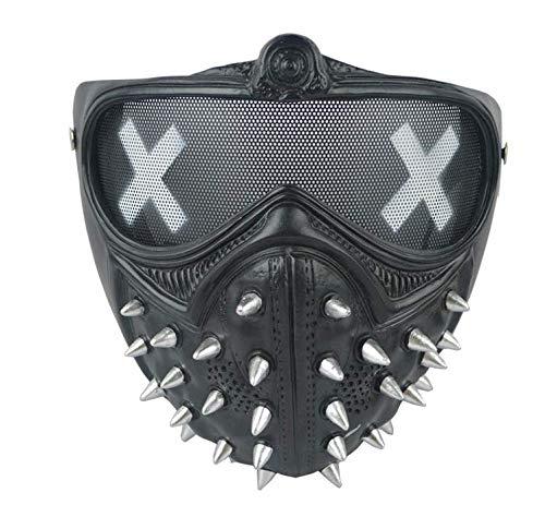 XUELIZHOU Watchdog 2Cosplay Schraubenschlüssel Maske Halloween Show Maske -