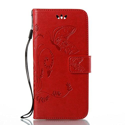 EKINHUI Case Cover Horizontale Folio Flip Stand Muster PU Leder Geldbörse Tasche Tasche mit geprägten Blumen & Lanyard & Card Slots für LG K4 2017 European Edition ( Color : Rose ) Brown