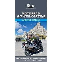 Motorrad Powerkarten Alpen und Gardasee: Laminierte Motorrad-Tourenkarte