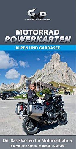 Preisvergleich Produktbild Motorrad Powerkarten Alpen und Gardasee: Laminierte Motorrad-Tourenkarte