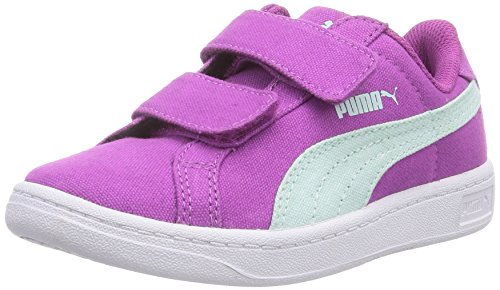Puma - Puma Smash Cv V Kids, Sneaker basse Unisex – Bambini Viola (Violett (vivid viola-bay 03))