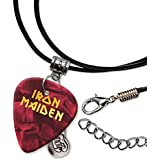 Iron Maiden Púa de Guitarra Collar de la Cuerda Necklace Red Pearl ( GHF )