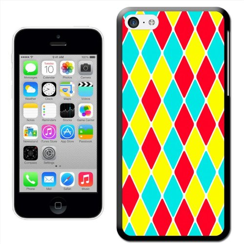 Fancy A Snuggle Abstrakte Spiegelung 'Hard Case Clip On Back Cover für Apple iPhone 5 C Diamond Pattern Red Yellow