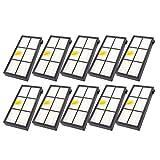 Hunpta@ Staubsauger Zubehör für iRobot Roomba, rsatzteile für iRobot Roomba 860 880 805 860 980 960 Staubsauger mit 10 Stück Filter (A)