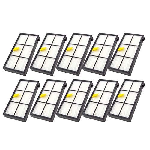 Preisvergleich Produktbild Jamicy Bürsten Filter Kompatibel für iRobot Roomba 860 880 805 860 980 960 Staubsauger mit 10 Stück Filter,  Bürstenfilter Seitenbürsten Zubehör für Staubsauger
