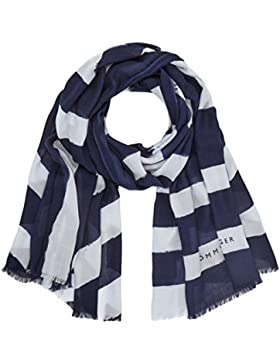 Tommy Hilfiger Damen Schal Rugby Stripe Scarf, Braun (Tommy Navy/Heather 902), One Size