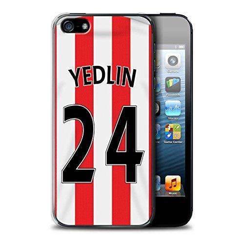 Offiziell Sunderland AFC Hülle / Case für Apple iPhone SE / Pack 24pcs Muster / SAFC Trikot Home 15/16 Kollektion Yedlin