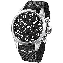 TW Steel Volante Reloj de pulsera VS7Dual Time banda textil negro UVP 249eur