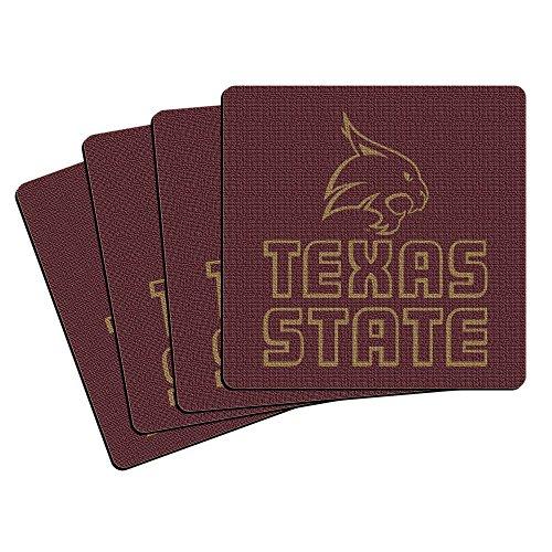 ncaa-texas-state-bobcats-neoprene-coasters-4-pack