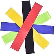 5PC direnç Loop Gymnastikband direnç Band set elastik direnç bantlarında Crossfit, Yoga, pilates Gym egzersizleri için uygun