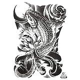 3Pcs-New big full back tattoo stickers waterproof men and women models MB-0014 340 * 480mm