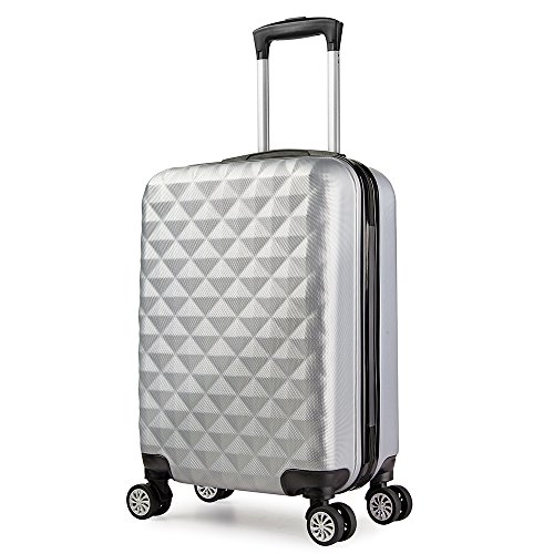 Valise cabine 55 cm ABS bagage cabine rigide 4 roues...