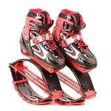 OOFAY Zapatos De Rebote Kangoo Jumps Niños Saltando Stilts Fitness Ejercicio Rebotando Peso Rango De Carga 30-50 Kg,Red