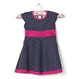 F-Loop Stiched Baby Girls Cotton frocks (F-32-16_Blue)