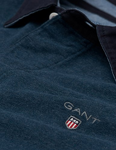 GANT Herren Langarmshirt Long-Sleeved Rugby Shirt Marine