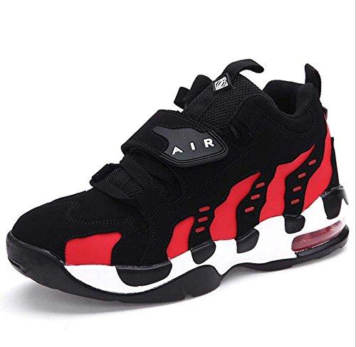 Unisex Coppia Casual Scarpe sportive Scarpe basktball Comforty Punta tonda Lacci delle scarpe Velcro Color Match Snekers Scarpe da trekking Scarpe da corsa Eu Taglia 35-44 ( Color : Rosso , Size : 42 )