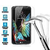 LG K10 Protection Ecran en Verre Trempé, Flycool Film Protection d'écran en Verre Trempé pour LG K10