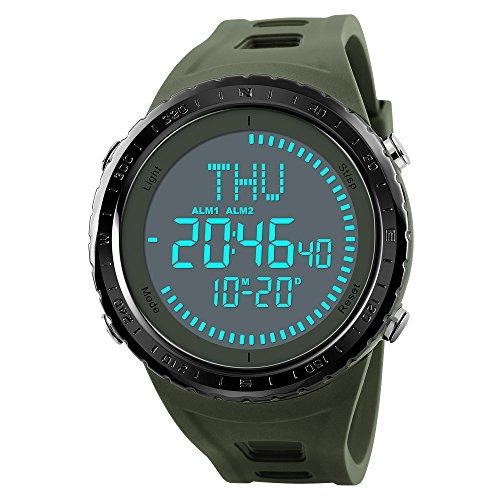df18ae306d15 Reloj de pulsera para hombre con brújula militar