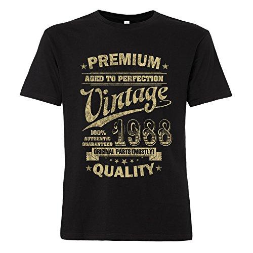 ShirtWorld - Aged to Perfection 1988 zum 30. Geburtstag - T-Shirt L (Geburtstag T-shirts 30.)