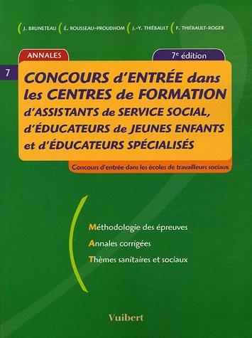 Concours d'entre dans les centres de formation d'assistants de service social, d'ducateur de jeunes enfants et d'ducateurs spcialiss