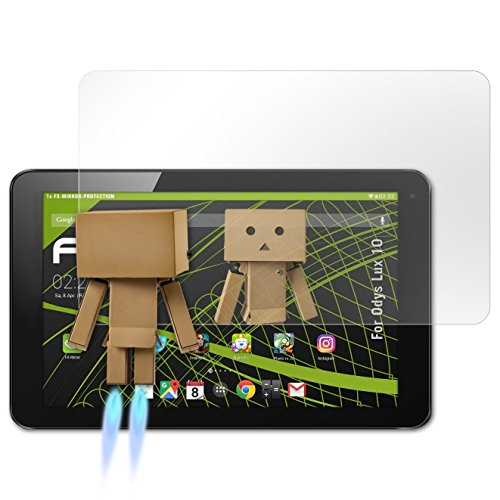 atFolix Bildschirmfolie für Odys Lux 10 Spiegelfolie, Spiegeleffekt FX Schutzfolie
