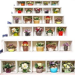 Zhiyu&art decor 3D Treppe Aufkleber Wasserdicht Treppe Aufkleber Wandmalereien DIY Treppe Aufkleber Aufkleber Abnehmbare Wand Aufkleber für Treppen 39,4x 7,1 Cy-02
