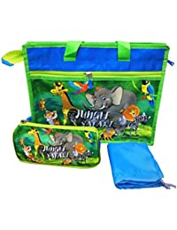 Shopaholic Jungle Safari Activity Bag-3pc Set For Kids