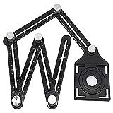 Vorlage Werkzeug, Aluminium Legierung Lineal Winkelschablone Template Tool Angleizer Multi Winkel Angleizer Messlineal für Ingenieur Erbauer Carpenter Handwerker Architekt XXYsm