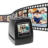 Aibecy-Escáner de negativos portatil, Convertidor de película de Diapositivas de 35 mm y 135 mm Visor de imágenes Digitales con 512 MB de Software de edición de Memoria Incorporado