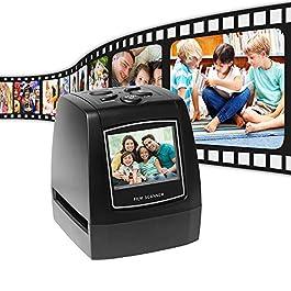 Aibecy Pellicola ad alta risoluzione da 14MP / 22MP Convert Convert 35mm 135mm 126mm 110mm 8mm Colore Monocromatico Diapositiva Film Negativo in immagine digitale con software di editing incorporato