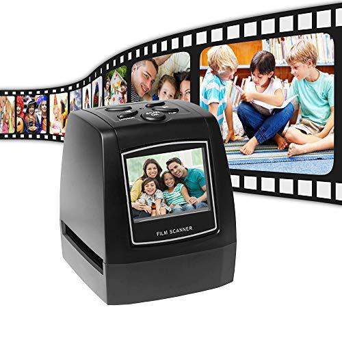 Aibecy Protable Negativscanner Diascanner 35mm 135mm Diafilm Konverter Foto Digital Image Viewer mit 512 MB Eingebauter Speicherbearbeitungssoftware (EC718)
