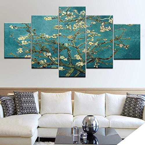 int Die Blume Bäume Moderne Wand Poster Leinwand Kunst Malerei Für Zuhause Wohnzimmer Dekoration-40X60/80/100Cm,With Frame ()