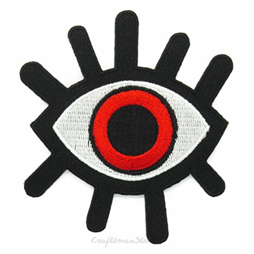creepy-21th-century-boy-long-lash-eye-red-easy-fast-iron-on-sew-on-embroidered-patch-applique-gift-c
