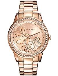 Esprit Damen Armbanduhr Datum klassisch Quarz Edelstahl ES108122006
