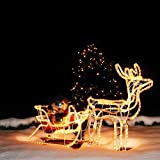 rentier beleuchtet f r innen und aussen neu led weihnachtsdeko x mas rentiere hirsch. Black Bedroom Furniture Sets. Home Design Ideas