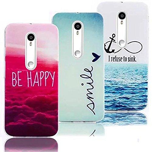 Vandot 3 X LG G3 colore TPU Cover in Silicone morbido a forma di copertura copertina protezione Cover Case Cover Shell-Be Happy Smile I rifiuti