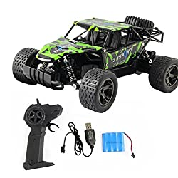 VENMO 1:20 Remote Control Car Toys 2.4GHz High Speed RC Monster Trucks Off-Road Tires USB Rechargeable 4WD Radio Controlled Racing Rock Crawler Buggy Toy For Kids Adults (A)
